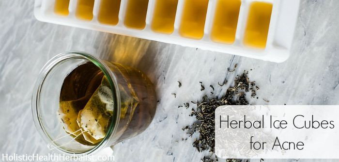 How to Make Herbal Ice Cubes for Acne
