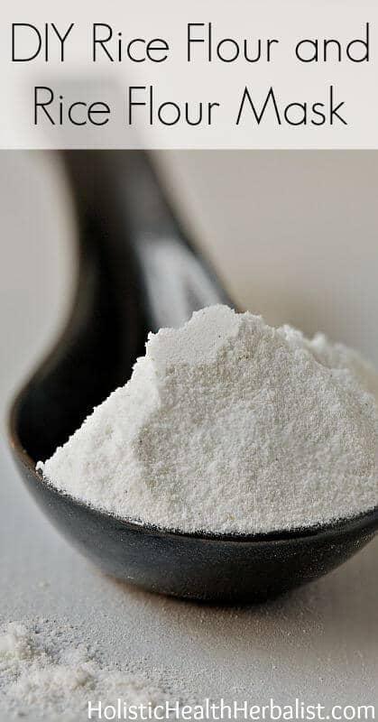 Rice flour mask