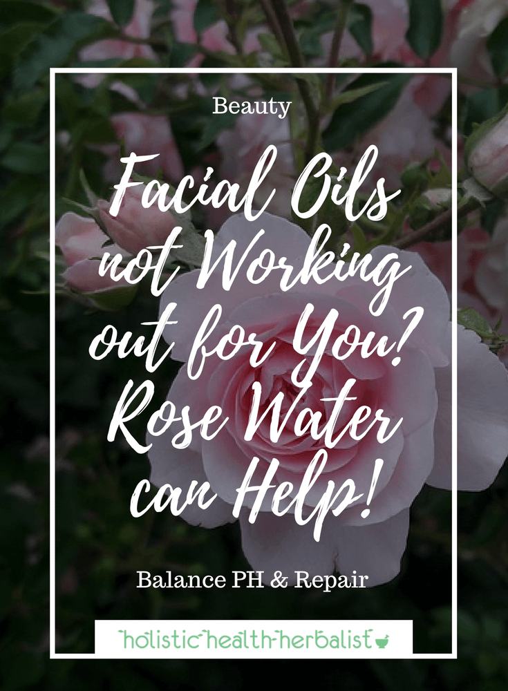 Facial Oils Not Working Out For You? Rose Water Can Help! - Learn about why rose water is such an important part of healing damaged acne prone skin so that it can readily absorb healing facial oils.