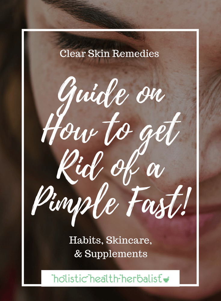 How to Get Rid of a Pimple Fast! - Use my tried and true methods for shrinking pimples and reducing redness fast, even overnight!