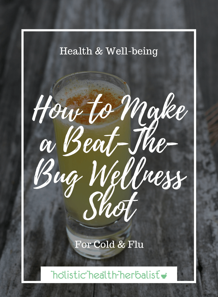 How to Make a Beat-The-Bug Wellness Shot - Learn how to make a wellness shot using fresh ingredients to cpmbat and prevent the symptoms of cold and flu.