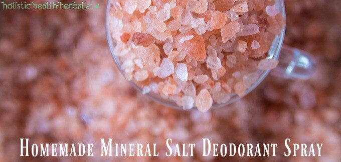 Homemade Mineral Salt Deodorant Spray