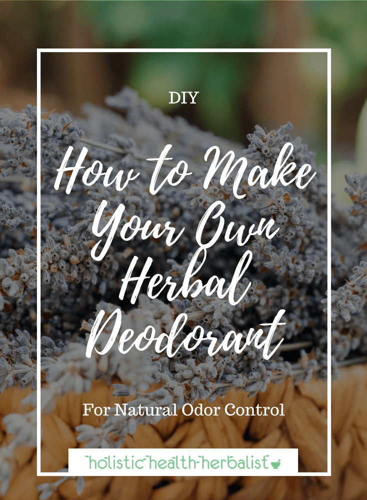 How to Make Your Own Herbal Deodorant - This deodorant recipe is different that others you may have come across. It's effective and easy to make!