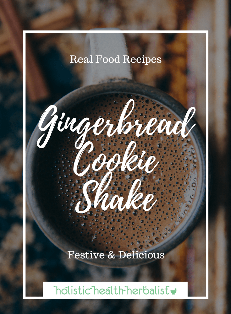 Gingerbread Cookie Shake - Learn how to make this pleasantly spicy gingerbread shake for the winter months. It's even perfect post work-out when you add a little protein powder!