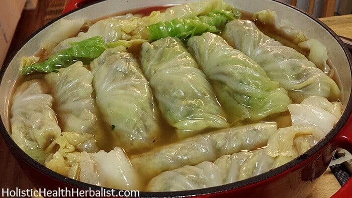 finished stuffed cabbage rolls