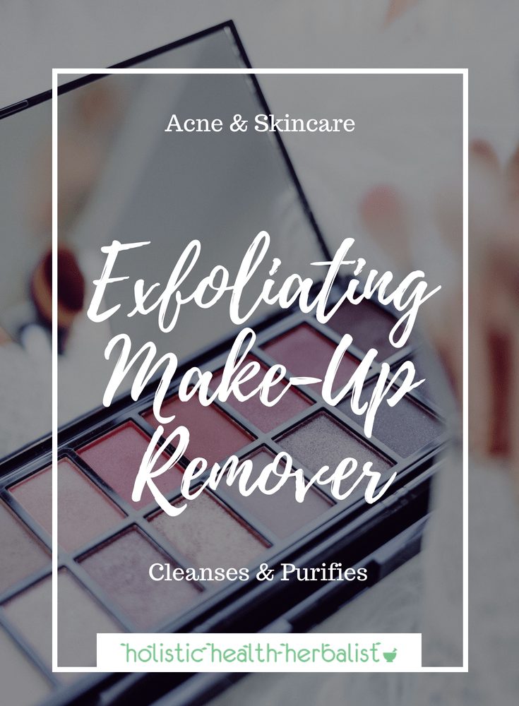 Exfoliating Make-Up Remover - This exfoliating make-up remover is gentle, effective, and made with all natural ingredients. It brightens skin, evens skin tone, and removes dead skin!
