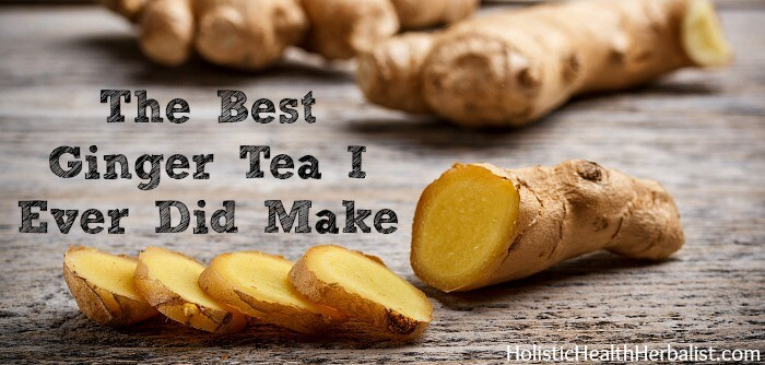 The best ginger tea recipe ever.