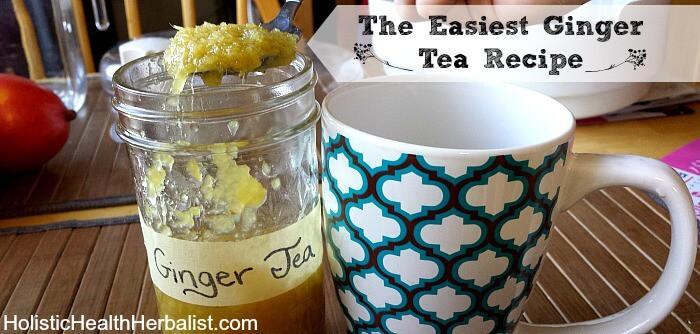 The easiest ginger tea recipe!