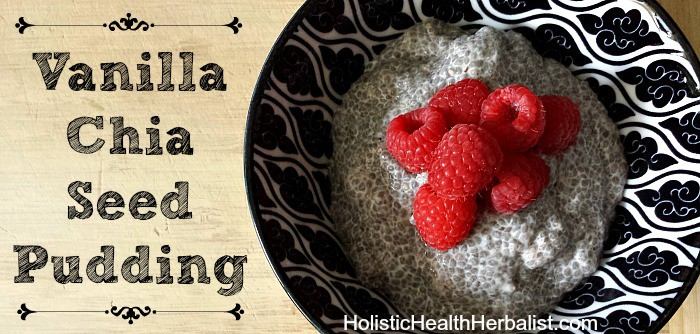 How to make vanilla chia seed pudding.