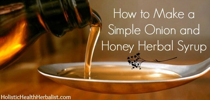 onion syrup for colds and flu