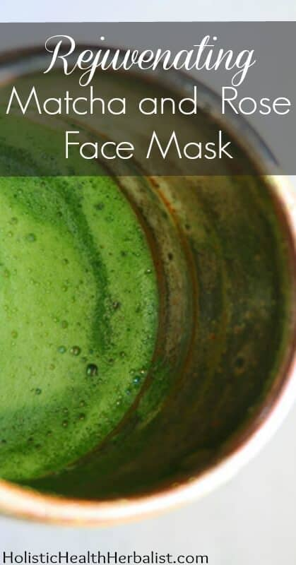 Rejuvenating Matcha Rose Face Mask - DIY matcha rose face mask recipe that will leave your skin feeling rejuvenated, refreshed, and super smooth!
