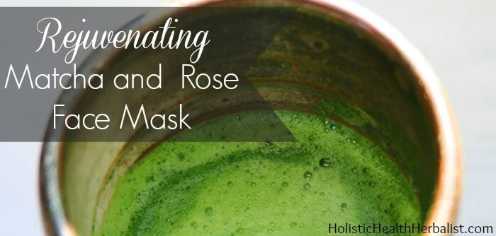 Matcha rose face mask recipe for tired skin.