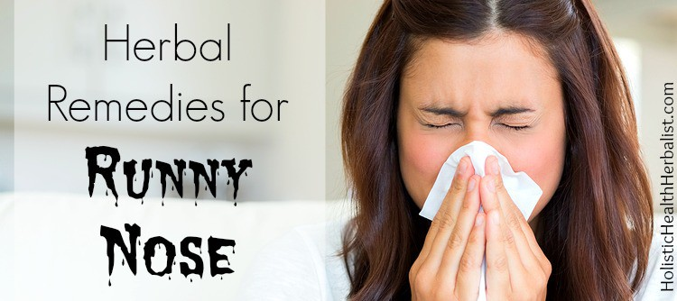 herbs for runny nose and how to stop it