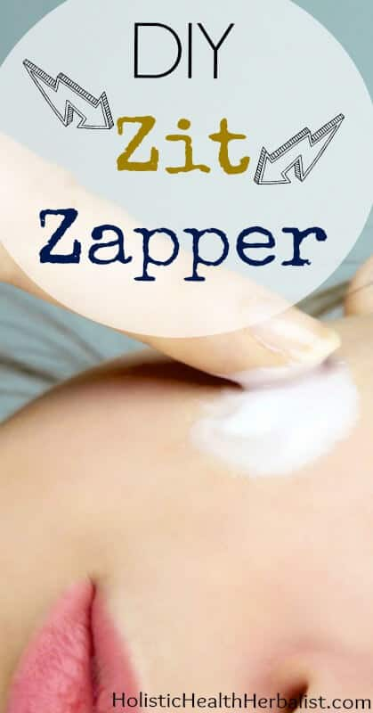 DIY Zit Zapper Recipe - Learn how to make my go to recipe for stubborn blemishes!