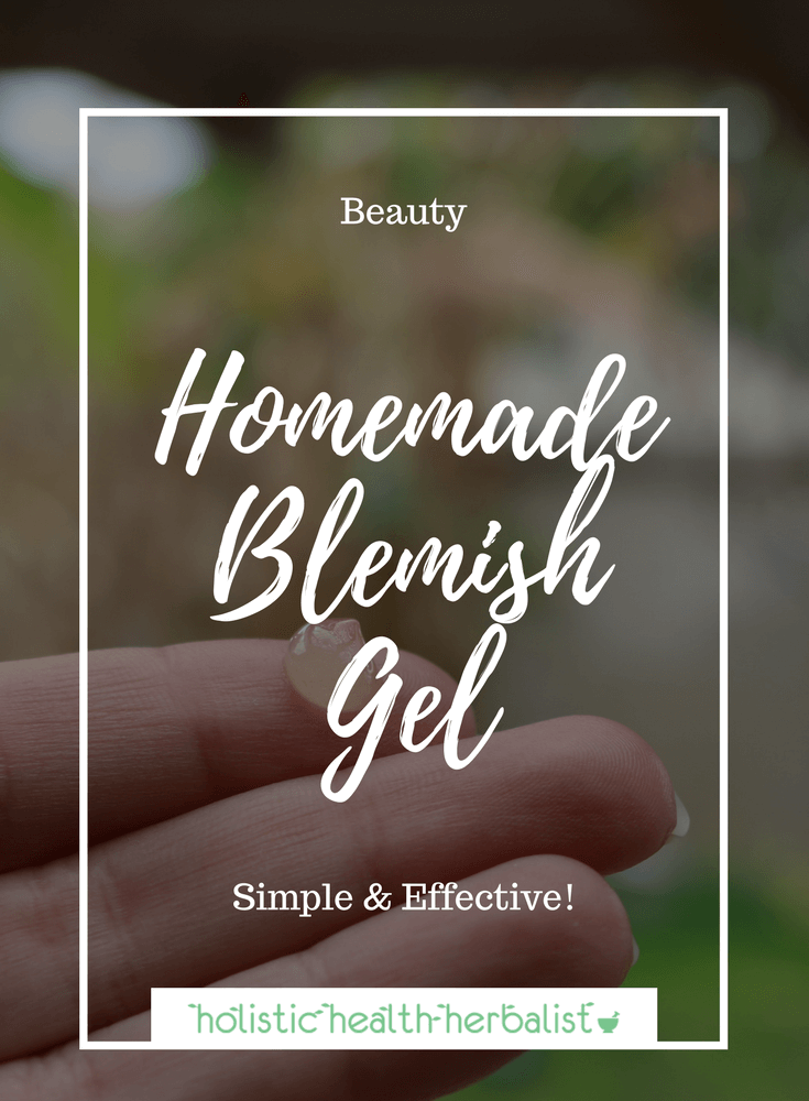 Homemade Blemish Gel - Learn how to make a simple yet effective all-natural blemish gel for acne.