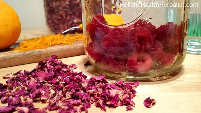 Raspberry Rose Liqueur 2