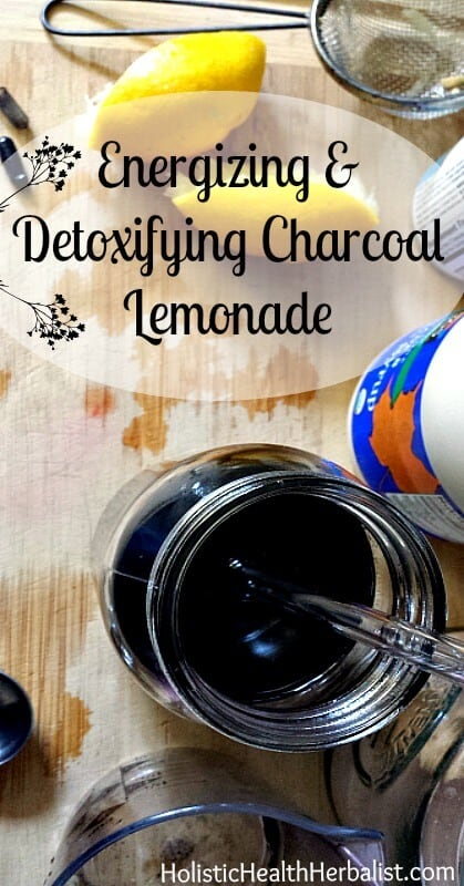 Energizing and Detoxifying Charcoal Lemonade - Learn how to make a delicious charcoal lemonade that soothes the stomach and detoxifies that body.
