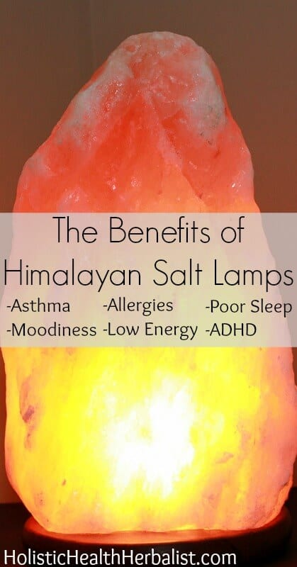 The Benefits of Himalayan Salt Lamps - Himalayan salt lamps have been known to sooth asthma, allergies, moodiness, ADHD, boost energy, and improve poor sleep!