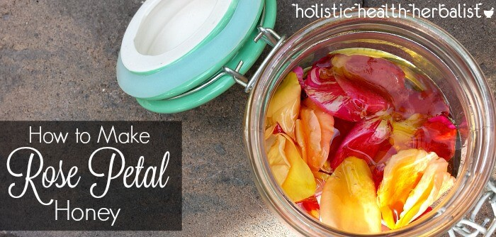 super simple recipe for how to make rose petal honey