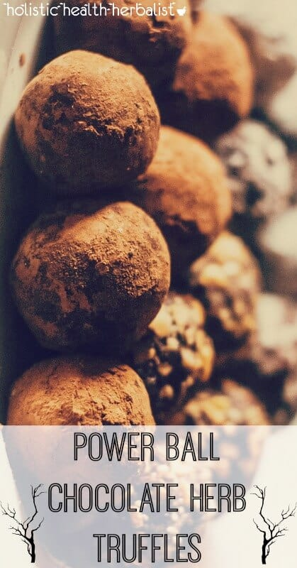 Power Ball Chocolate Herb Truffles - Learn how to make a delicious snack made with powdered herbs that support energy and the adrenals and decadent chocolate!