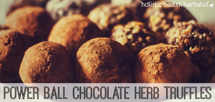 Power Ball Chocolate Herb Truffles
