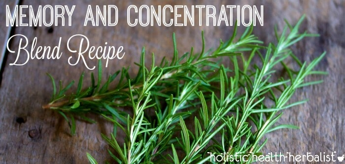 Memory and Concentration Blend Recipe