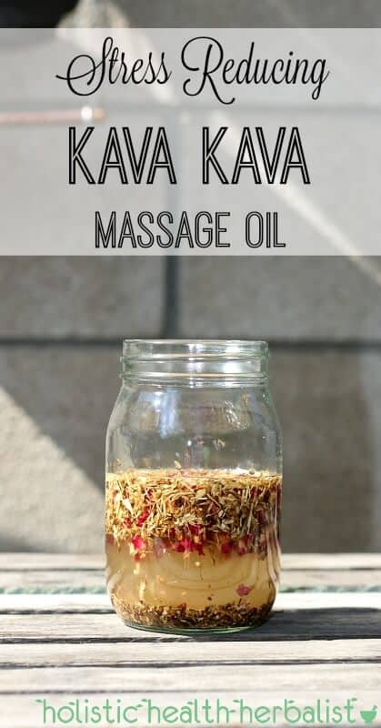 Stress Reducing Kava Kava Massage Oil - This kava kava massage oil will leave tight, tense, and tired muscles relaxed, loosened, and soothed! This blend is earthy, floral, and simply incredible!