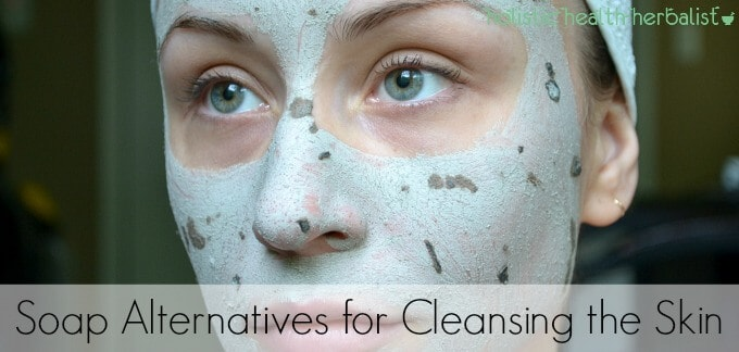 How to use soap alternatives for cleansing the skin.