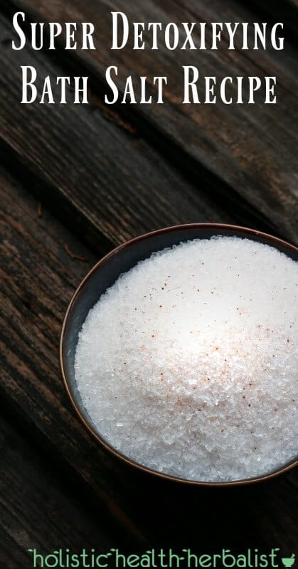 Super Detoxifying Bath Salt Recipe - Add essential oils to enhance the detoxifying effects of epsom and himalayan salt.