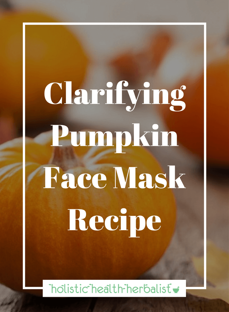 DIY Clarifying Pumpkin Face Mask Recipe for bright, supple, clear skin.
