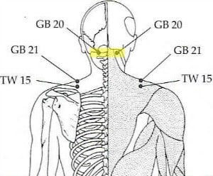 tension headache acupressure point