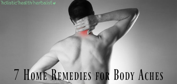 7 Home Remedies for Body Aches - Picture of a man clasping his neck and back in pain.