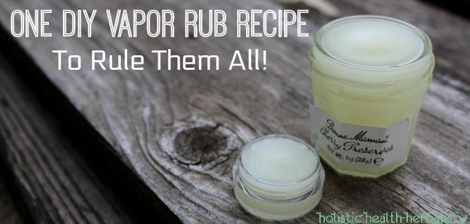 DIY Vapor Rub Recipe – To Rule Them All!