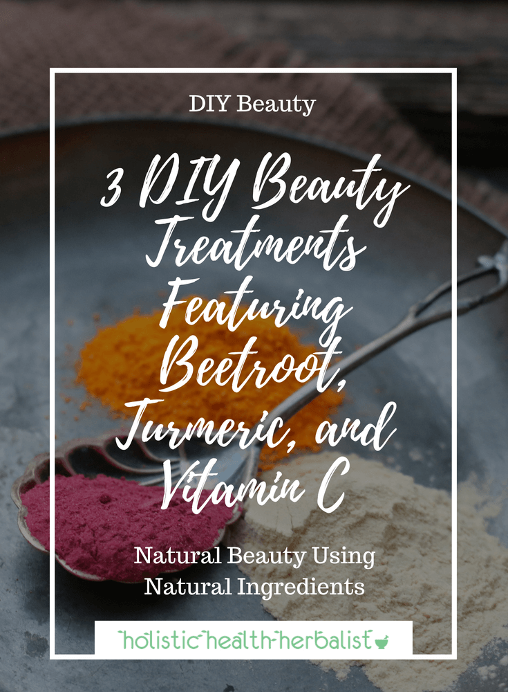 3 DIY Beauty Treatments Featuring Beetroot, Turmeric, and Vitamin C - Making your own beauty recipes with all natural ingredients doesn't have to boring, it can be fun and interesting too! Learn how to make some of my favorite recipes like turmeric toothpaste, a purifying vitamin C face mask, and Beetroot bath bombs to spice up your beauty routine.