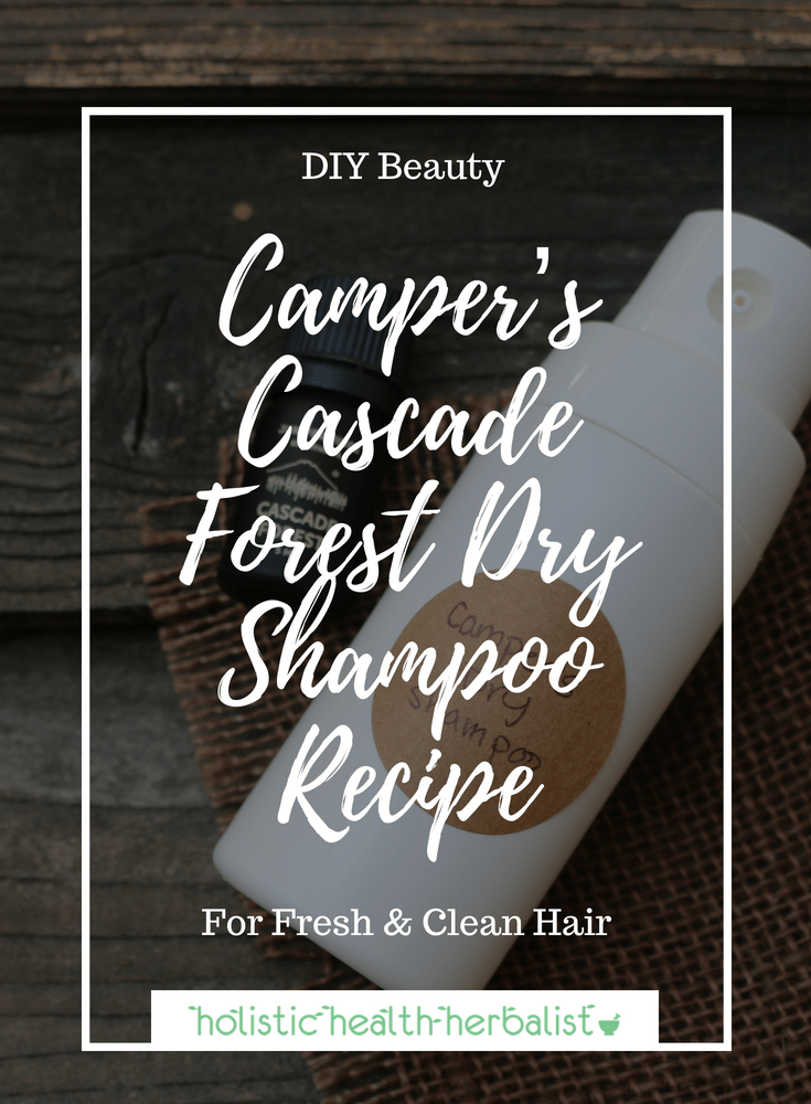 Camper's Cascade Forest Dry Shampoo Recipe - This dry shampoo smells just like a forest and works perfectly for camping, backpacking, and other outdoor adventures where you want to have fresh feeling and smelling hair on trail.