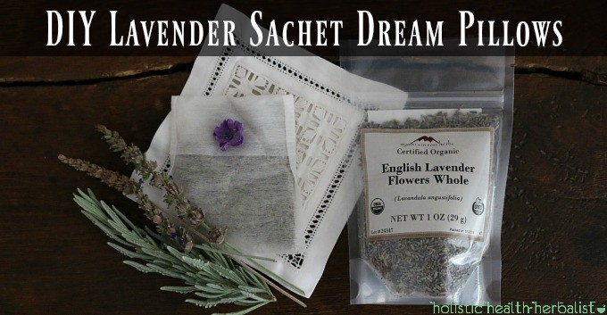 DIY Lavender Sachet Dream Pillows