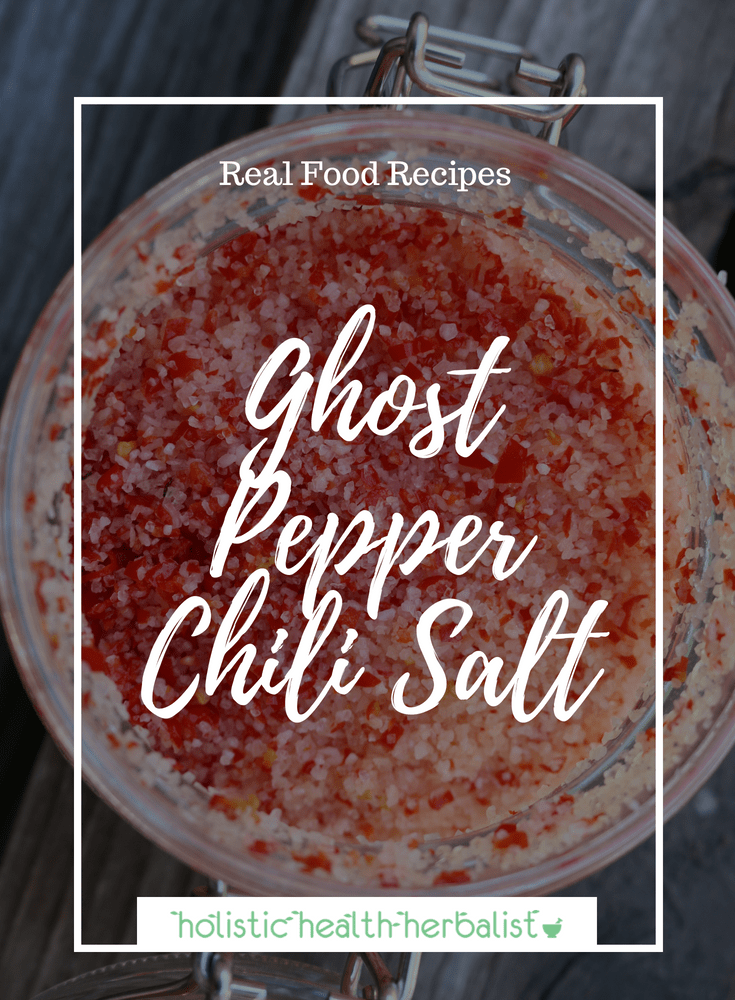 Ghost Pepper Chili Salt - This extremely spicy yet flavorful ghost pepper infused sea salt is perfect to the spicy pepper enthusiast in your life!