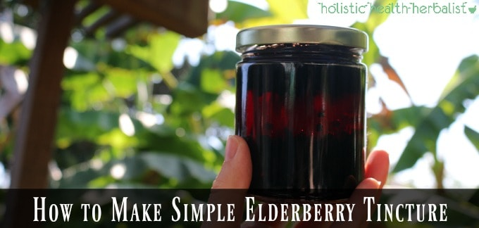 How to Make Simple Elderberry Tincture