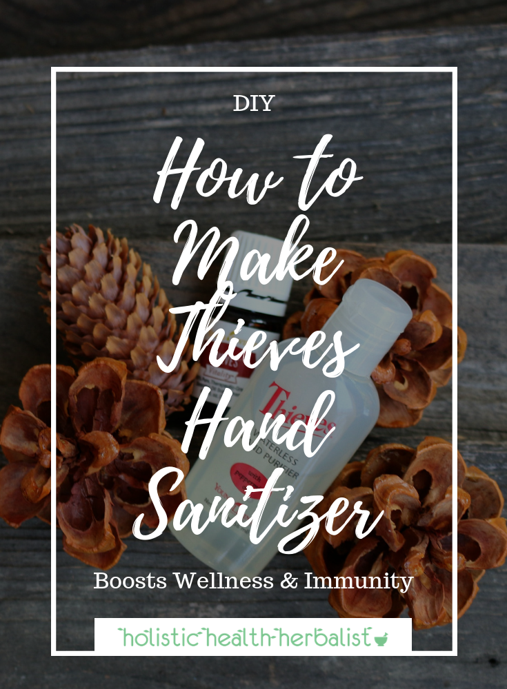 How to Make Thieves Hand Sanitizer - This festive recipe is perfect for the holidays! It's aromatic and helps fight germs and bacteria during cold and flu season!