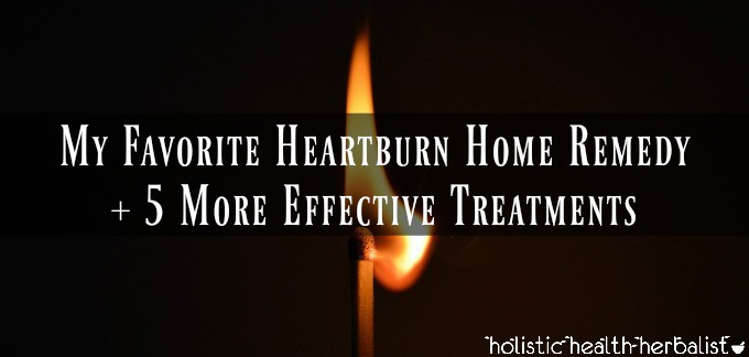 Heartburn Home Remedy - Photo of a lit match