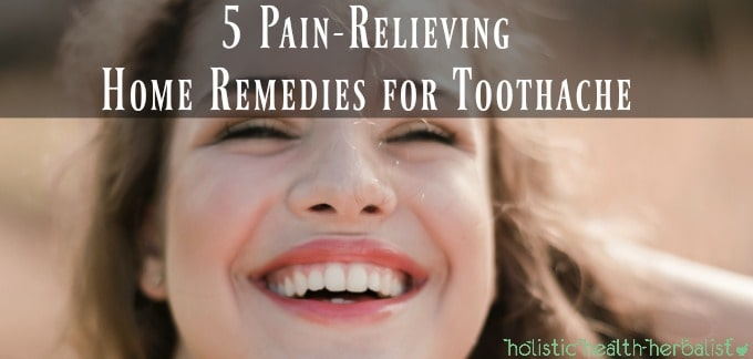 natural remedies for toothache - picture of girl smiling