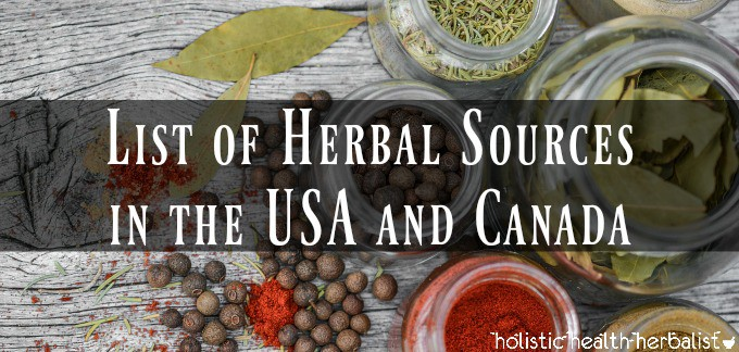 List of Herbal Sources in the USA and Canada